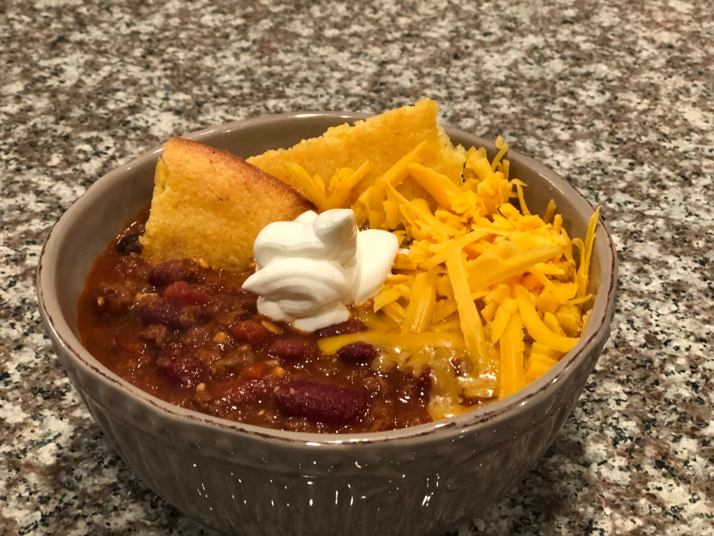 Slow Simmered Spicy Venison Chili Rough Crust